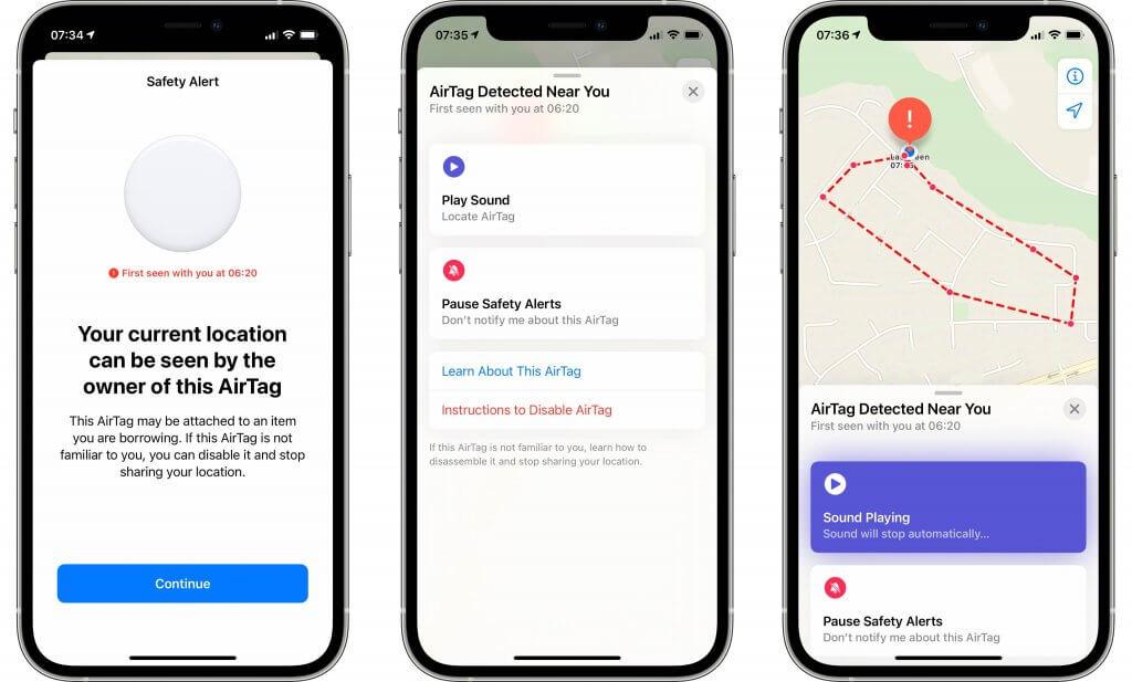 Unknow AirTag alert - Apple