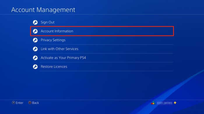 Go to Account Information on Account Management Settings to cancel PlayStation Now Subscription