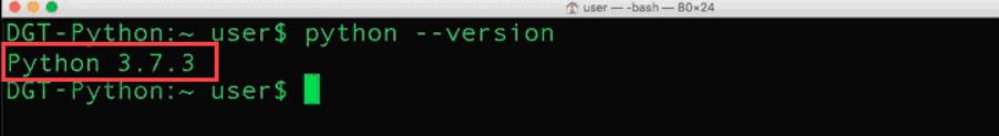 check python version in macOS