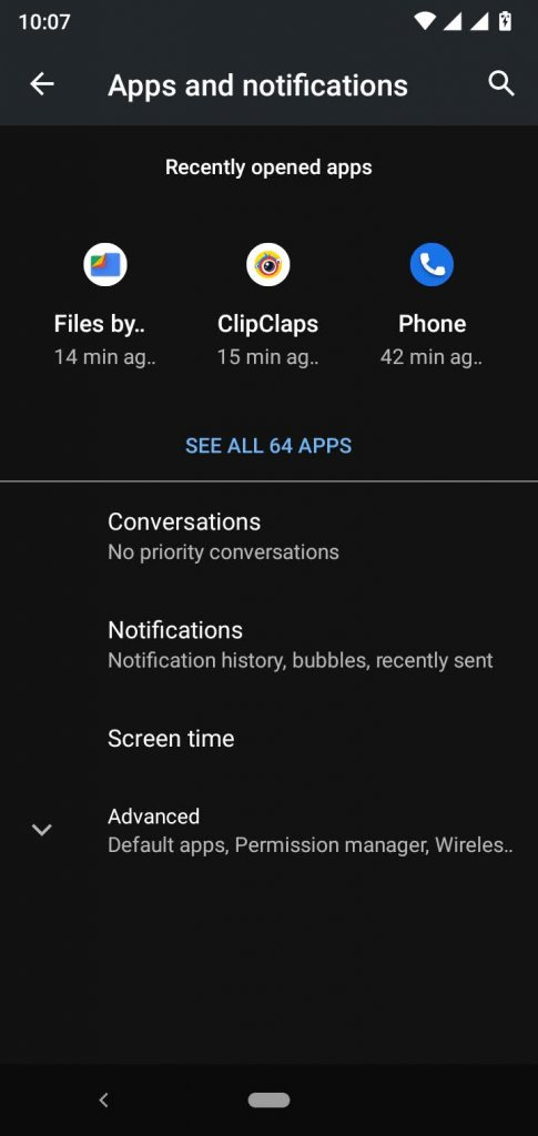 Go to Apps and Notifications
