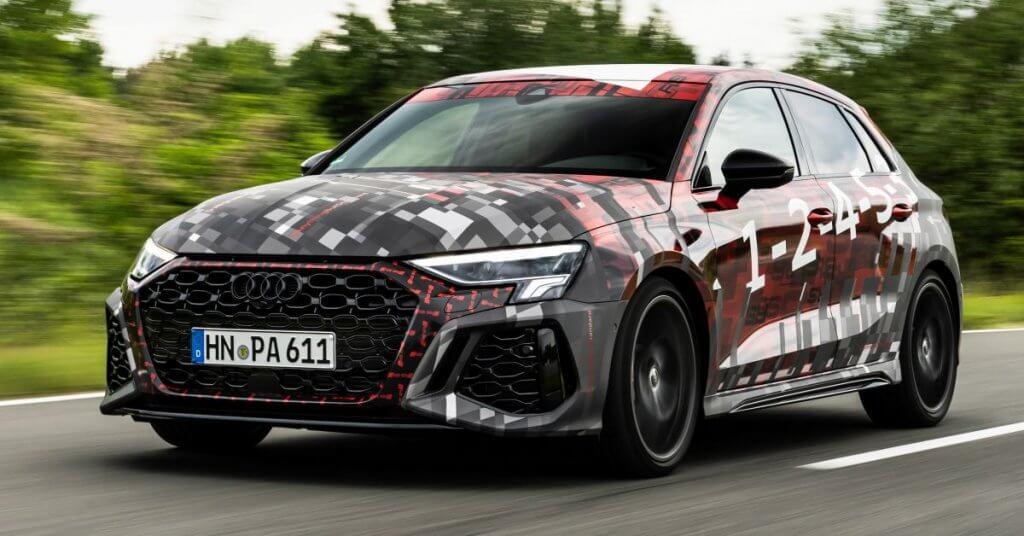 Audi RS3 2022, the new sedan