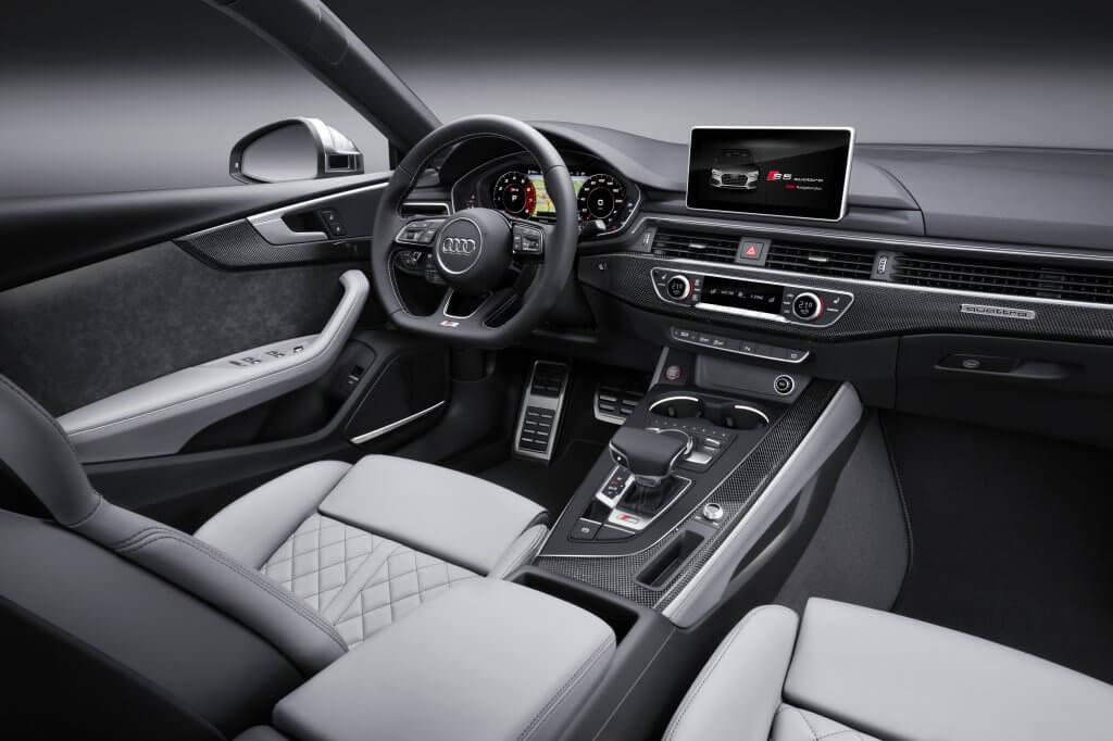 The interior design of the S5 Sportback.