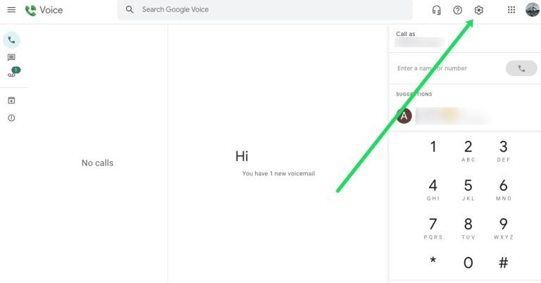 Settings of Google Voice