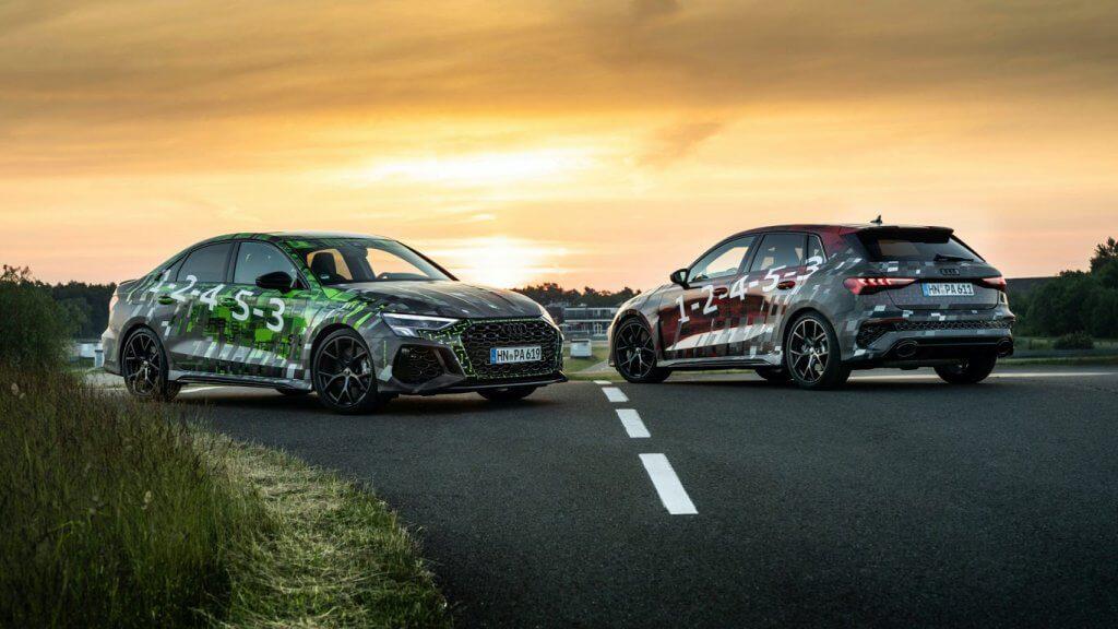 Audi RS3 sedan body type.