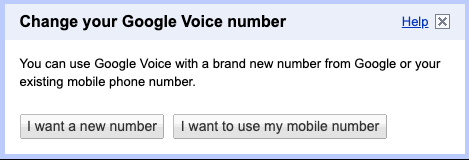 """""""I want a new number"""" option"""