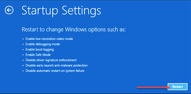 Startup Settings - how to uninstall Nvidia drivers
