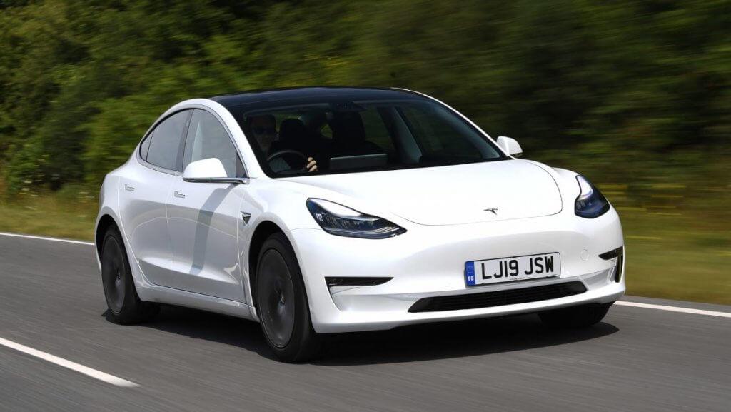 Tesla model 3 car as a competitor.