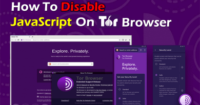 How To Disable JavaScript In Tor Browser