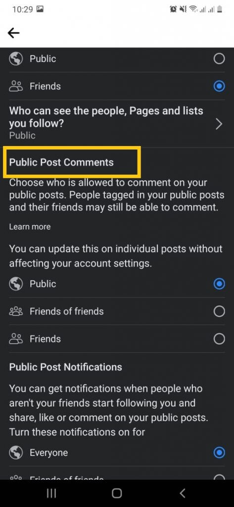 Public Post Comment window when turn off comments- Turn off comments on Facebook posts.