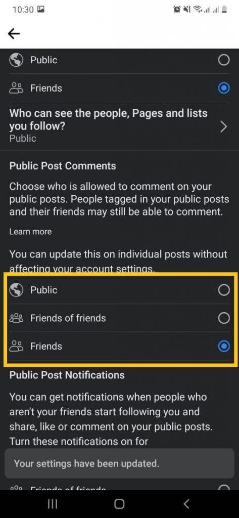 Comment status when turn off comments. Turn off comments on Facebook posts.